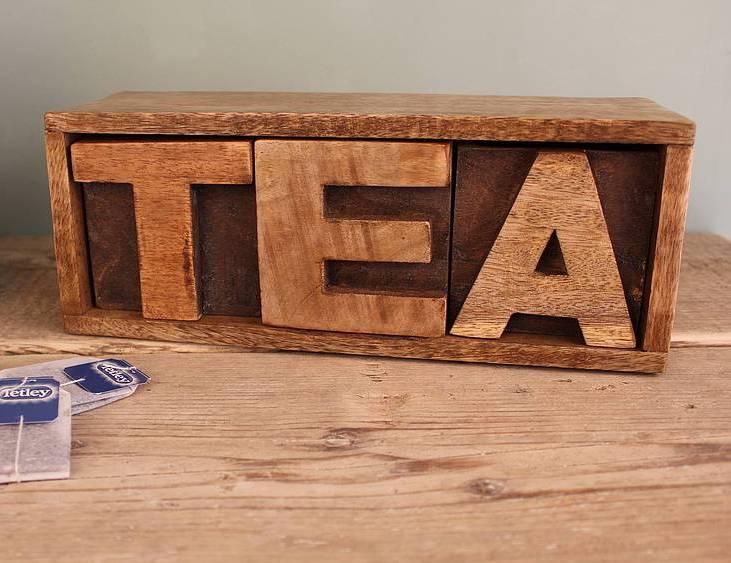 Деревянная чайная коробка