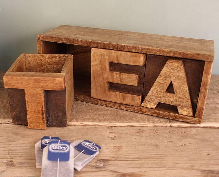 Чайная коробка из дерева