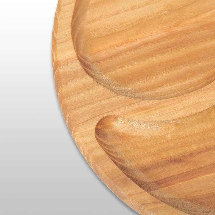 Менажница «Инь Янь» круглая 250х250х20мм из бука