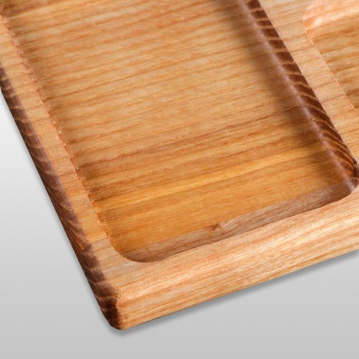 Блюдо для подачи прямоугольное 250х200х20мм из бука