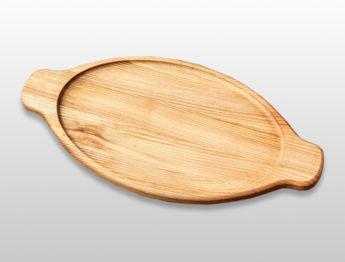 """Блюдо для подачи """"Хачапури"""" 400х200х20мм из бука"""