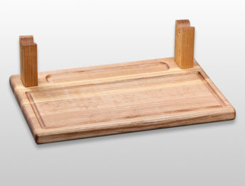 Подставка для подачи шашлыка, колбасок, люля-кебаб 300х200х25мм из бука
