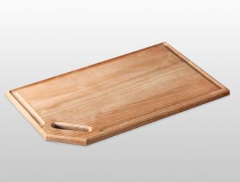 Доска разделочная «Косоручка» — доска для нарезки и подачи с ручкой 400х300х20 мм из бука