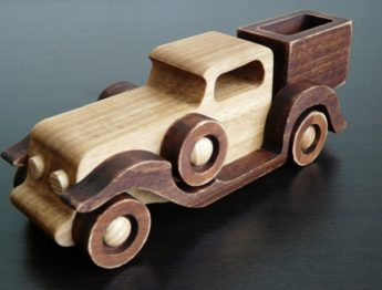 Деревянная ретро машинка пикап