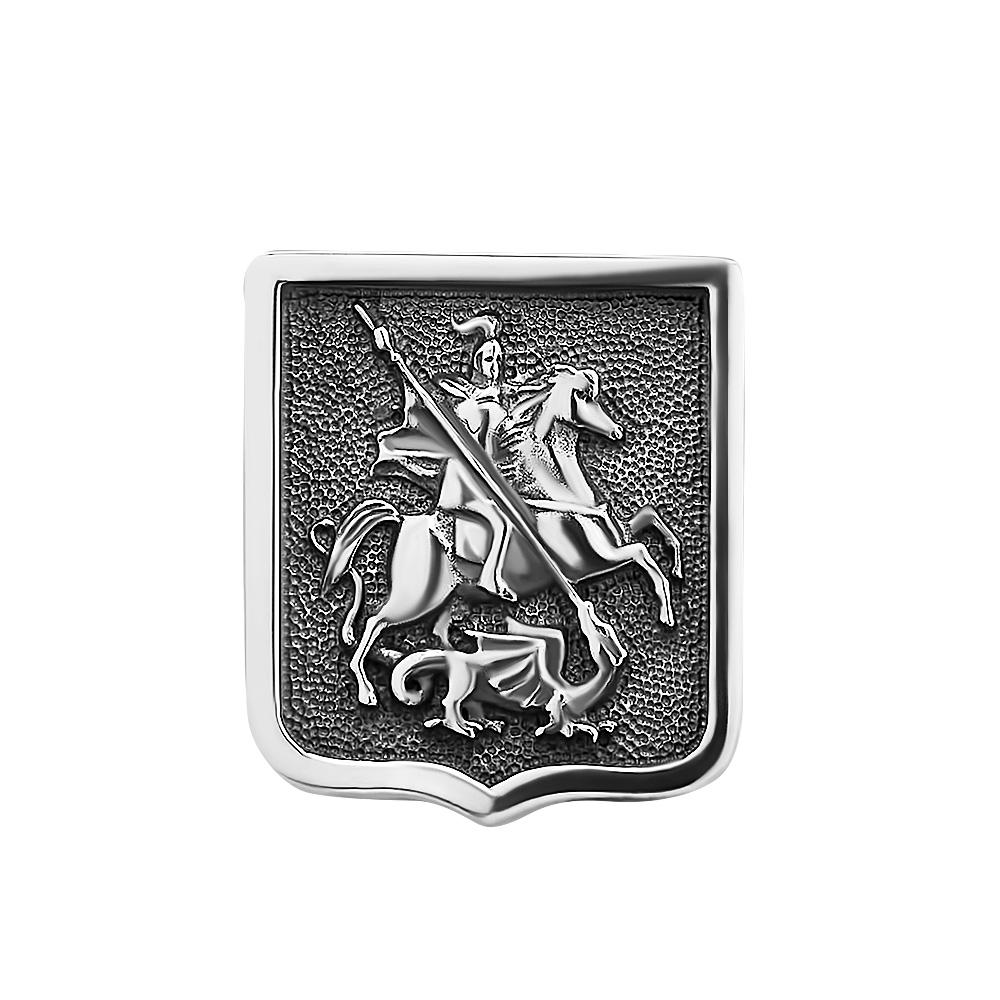 Значок Георгий Победоносец из серебра