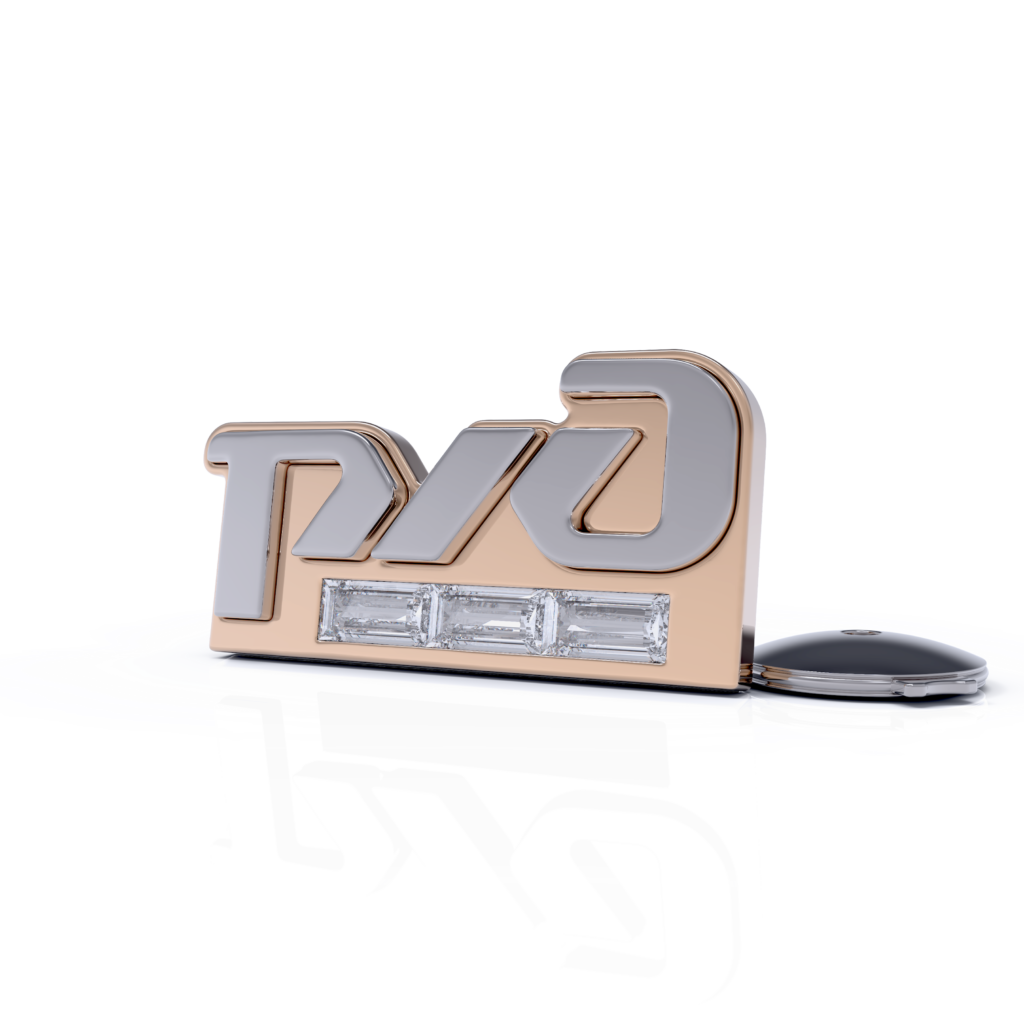 Значок из серебра с позолотой РЖД