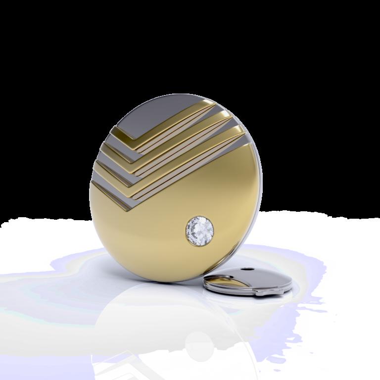Значок из серебра с позолотой Сбербанк