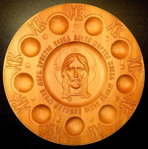 Пасхальная подставка для яиц с образом Иисуса Христа