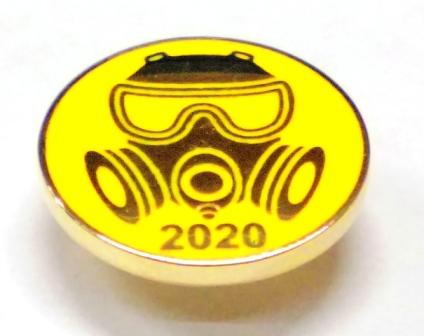 металлический значок с логотипом Ликвидатор